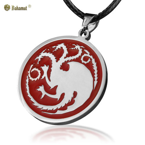 Bahamut A Song of Ice and Fire Game of Thrones The House of  Targaryen Dragon Badge Necklace Pendant Titanium Steel Jewelry