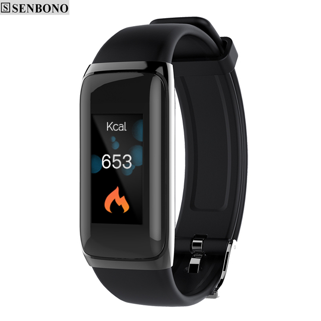 """SENBONO BY22S IP67 Smart Wristband 0.96"""" Color Screen Continuous Heart Rate Health Fitness Tracker Smart Band SMS Call Reminder"""
