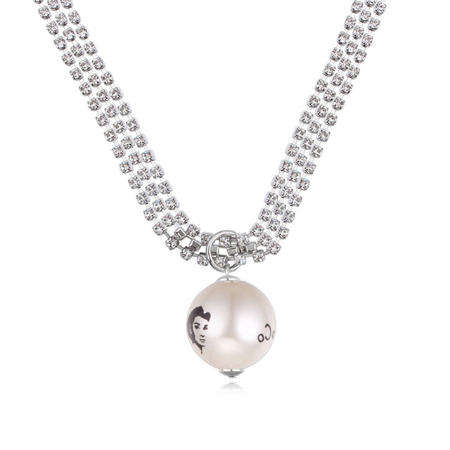 2016 Wholesale Best Seller pendant Jewelry  long Necklaces pearl Pendants For Women austrian crystal Jewelry winter product