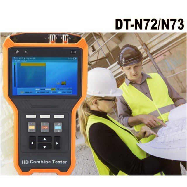 4.0 inch LCD HD CCTV Tester TVI CVI AHD Camera RS485 monitor DC12V/1A Output SD coaxial PTZ & OSD USB storage Digital Multimeter