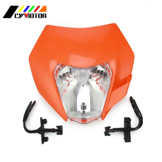 3 color Motorcycle 2016 Universal Headlights Headlamp Fairing For KTM Most Enduro And Supermoto Bike