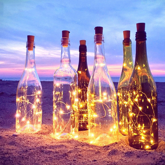 1M/2M/3M LED Garland Copper Wire Corker String Fairy Lights for Glass Craft Bottle New Year/Christmas/ Wedding Decoration