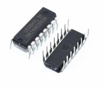 10 x M74HC595B1R 74HC595 8 Bit Shift Register 74HC595N DIP16/SOP-16