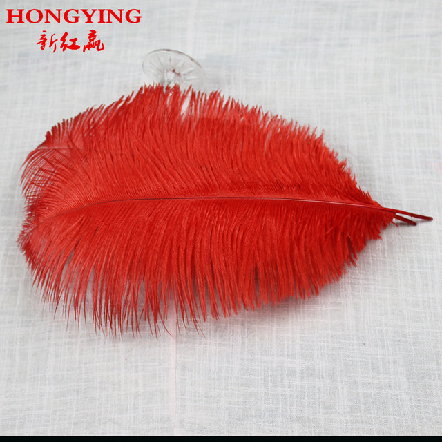 50pcs/lot 30-35cm/12-14 inches red ostrich feather Plume wedding decoration ostrich plumage aetware