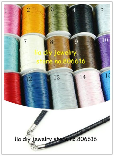 2MM (100Yards/Roll/Pcs) Shamballa Round String Waxed Cotton Cords Ropes Line Wire Jewelry Findings & Components