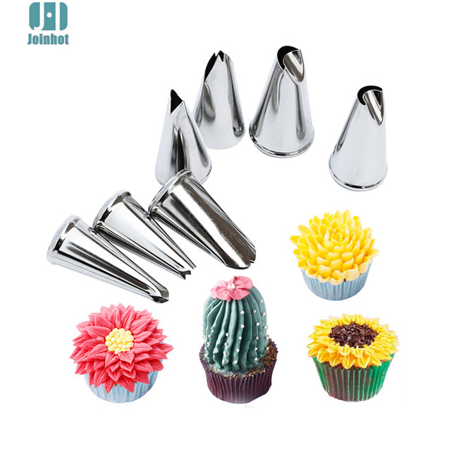 7 Pcs Set Leaves Nozzles Stainless Steel Icing Piping Nozzles Tips Pastry Tips For Cake Decorating Pastry Fondant Tools