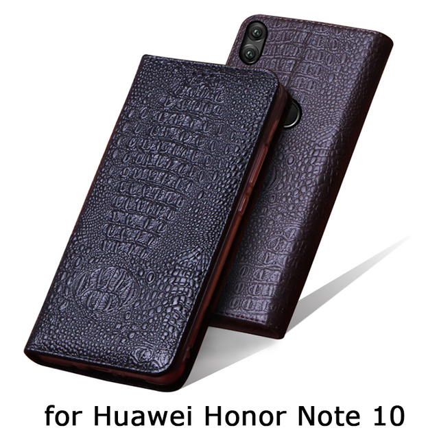 Luxury Genuine Leather Cases for Huawei Honor Note 10 Case Handmade Custom Flip Phone Cover for Fundas Huawei Honor Note10 Bag