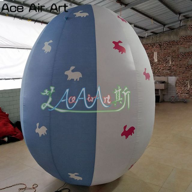 hot selling Easter inflatable Egg model,blue and white color inflatable Easter egg for Easter Events Decorations