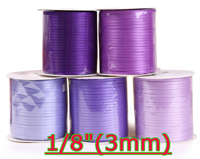 """[ywuber] 1/16""""(3mm) Single Face Cheap Satin Ribbon For Wedding Party Decoration Gift Wrapping Ribbon 500yard/roll Free shipping"""