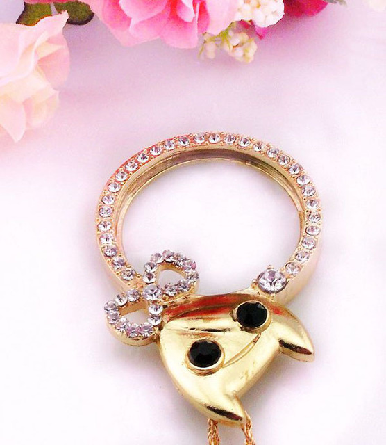ZY DIY Retail & Wholesale Vintage New Brand Gold Lucky Mouse Crystal Magnifier Monocle DIY Sewing Needlework