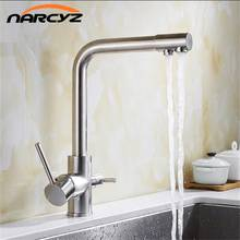 3 Way Kitchen Taps Pull Out Filter Sink Mixer Tap Purifier Water stainless steel