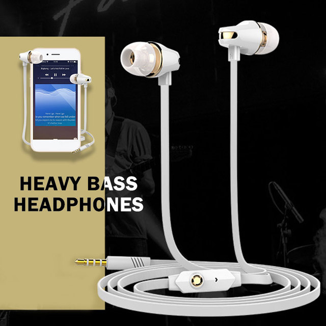 Cewaal Bass Wired MP3 Player Sport Headset Computer Earbuds Mini Mobile Phone Earphone