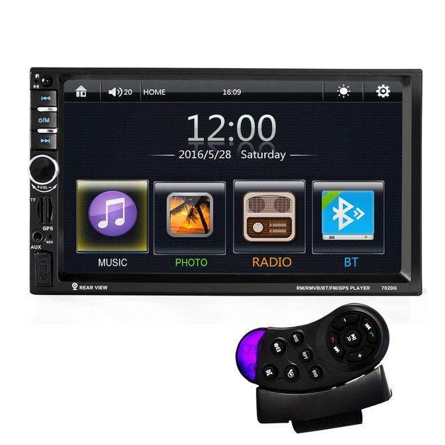 7inch Touch Screen 7020G Car Bluetooth Audio Stereo MP5 Player  stand by Rearview Camera GPS Navigation FM Function