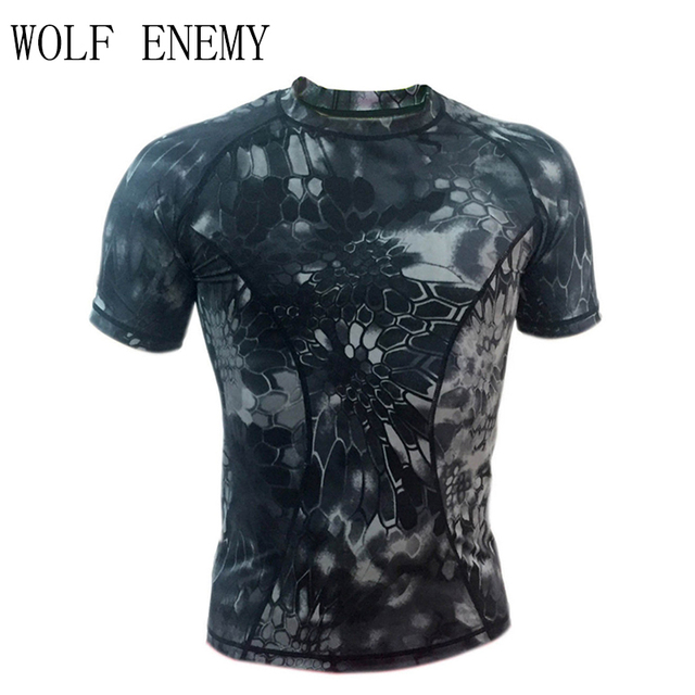 New Quick-drying Skin Python Camouflage T-shirt Men Women Outdoor Camouflage Short Sleeve Men Breathable Mesh T-shirt