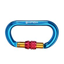Professional 25KN Outdoor Lock Carabiner Mountaineering Buckle Climbing Buckle Carabiner O-shape Automatic