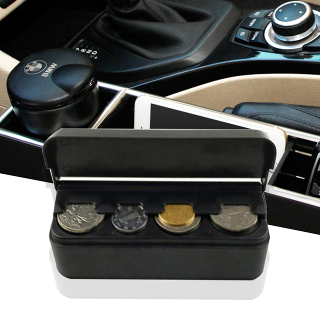 Car Coin Storage Case Holder Container Vehicle Money Wallet Storage Box