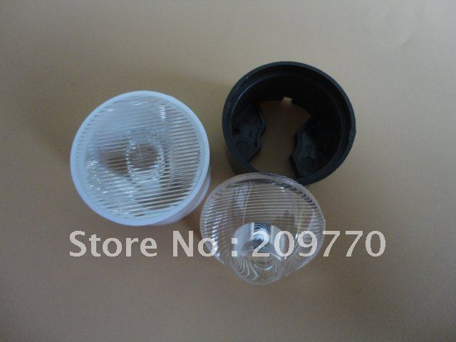 LED lens With stent 24MM pinstripe 25*60 degree lens ,1W 3W 5W LENS