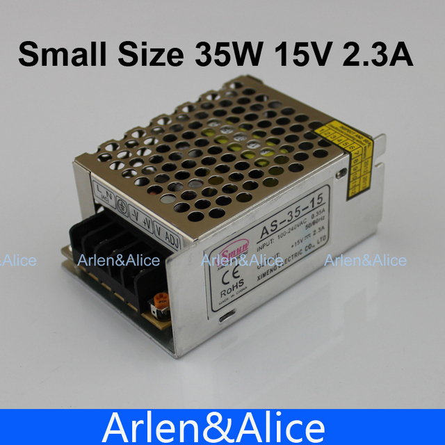 35W 15V 2.4A 100V-240V INPUT  Small Volume Single Output Switching power supply