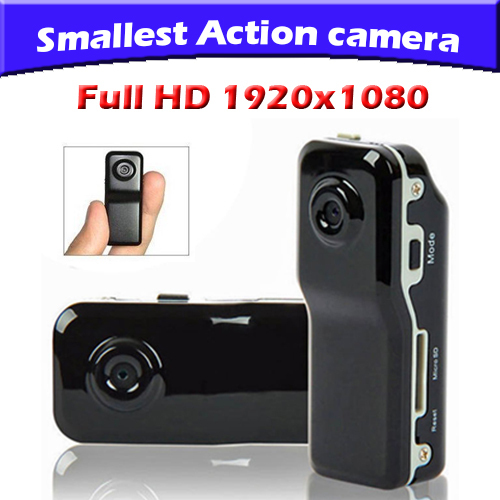 V8 Smallest Full HD 1920x1080 Sports camera Mini Action camcorder with motion detection Free shipping