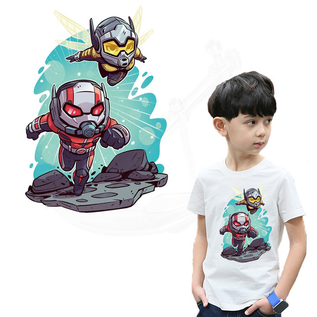 Cartoon Ant-Man and the Wasp patches for clothing  DIY children's T-shirt Sweatshirt clothing patches  termoadhesivos transfer