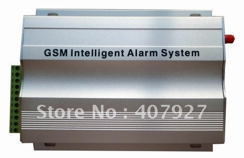 Free shipping + Wireless and wired GSM home alarm system with metal case fit lower temprature