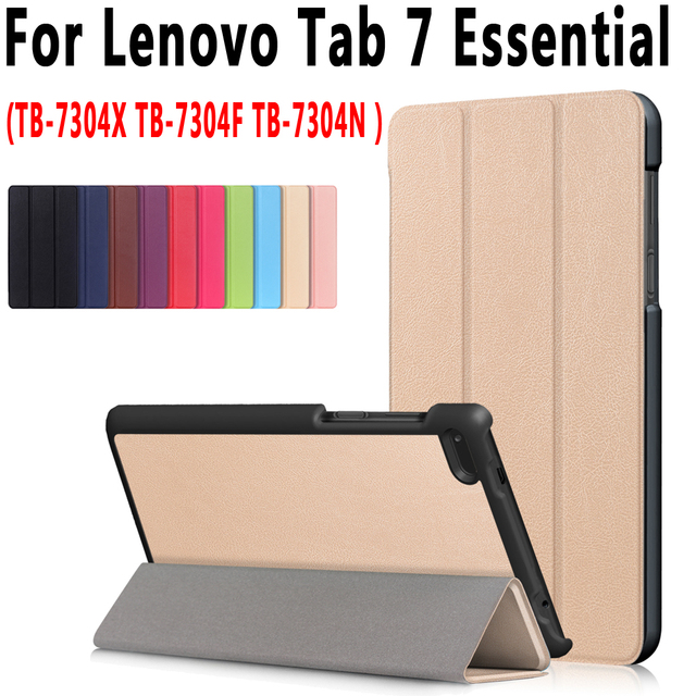 Smart Case for Lenovo Tab 7 Essential TB-7304 TB-7304X TB-7304F Cover Tablet Stand Pu Leather Case for Lenovo Tab4 7 Essential