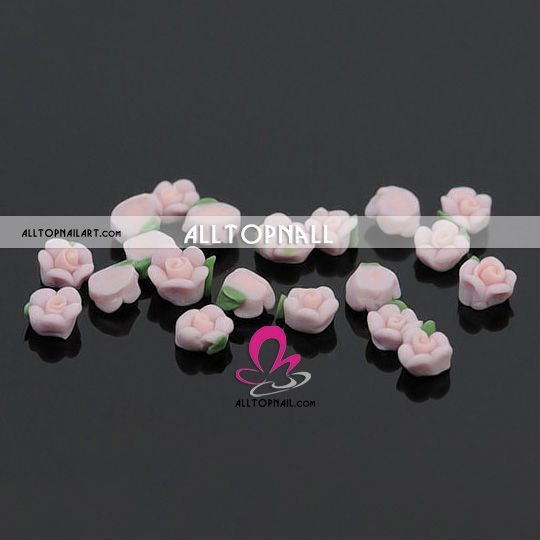 Mixed Colour 3D Ceramic Flowers 2000pcs Professional Nail Art Acrylic Flowers - DHL & EMS Free Shipping