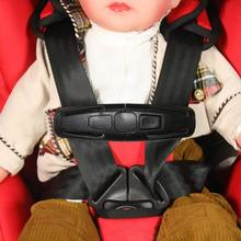 Durable Black Baby Safety Seat Strap Belt Harness Chest Clip Seat Buckle  Feeding Chair Harness Baby Booster Seat