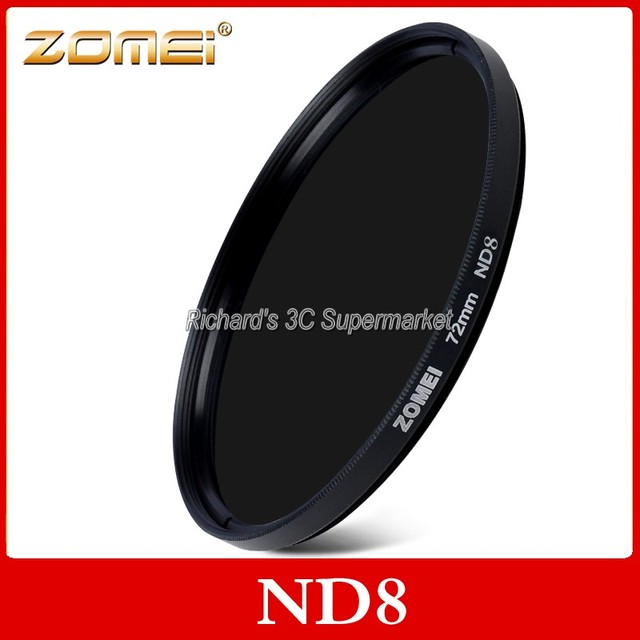 HIGH quality ZOMEI Neutral Density ND Filter ND2 ND4 ND8 52/55/58/62/67/72/77/82 mm