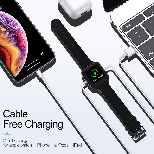KISSCASE Date USB Cable For iPhone X XS XR 8 Plus Magnetic Wireless Charger For Apple Watch 4 3 2 1 Airpods iPad Charging Cable