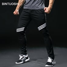 BINTUOSHI Running Pants Men With Pockets Football Soccer Training Pants  Jogging Fitness Workout Sport Trousers