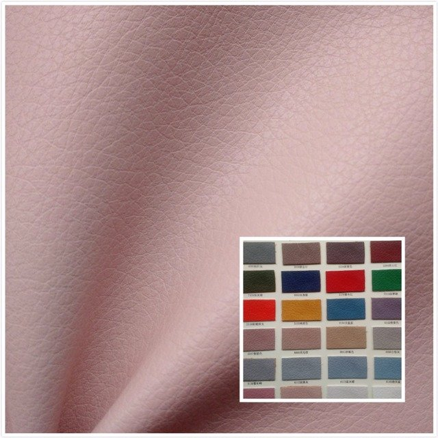 NEW! High quality Smoke pink faux leather fabric PU soft synthetic leather 26 color textile fabric for bag belt sofa