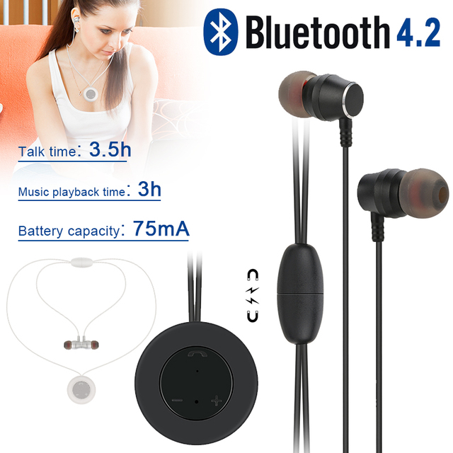 Mini Hands-Free Headphones Earphone Magnetic Wireless Earbuds Sport Bluetooth V4.2 Headset Smartphone for Samsung