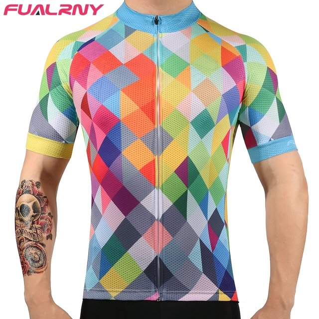 2021 FUALRNY Pro Cycling Jersey Pro Team MTB Downhill Jersey Breathable Quick-dry Road Bike Bicycle Jersey Men Cycling Clothing