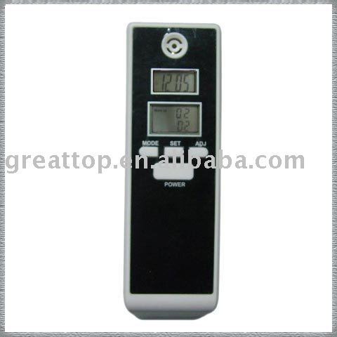 2pcs/lot dual screen display alcohol tester with Real time & alarm time and Temperature display