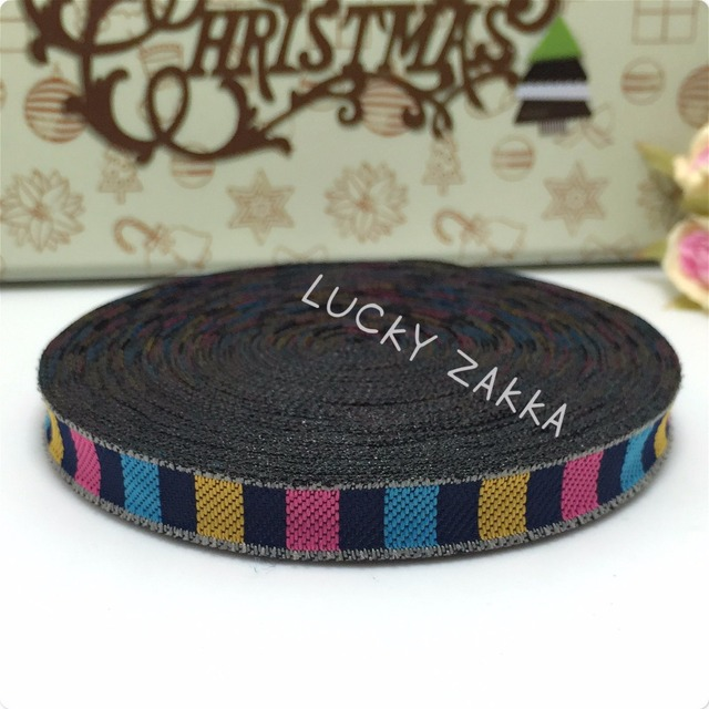 """15yard/sets 3/8""""10mm 100% polyester Woven Jacquard ribbon Colorful Bracelet accessories lace MZ15072010"""