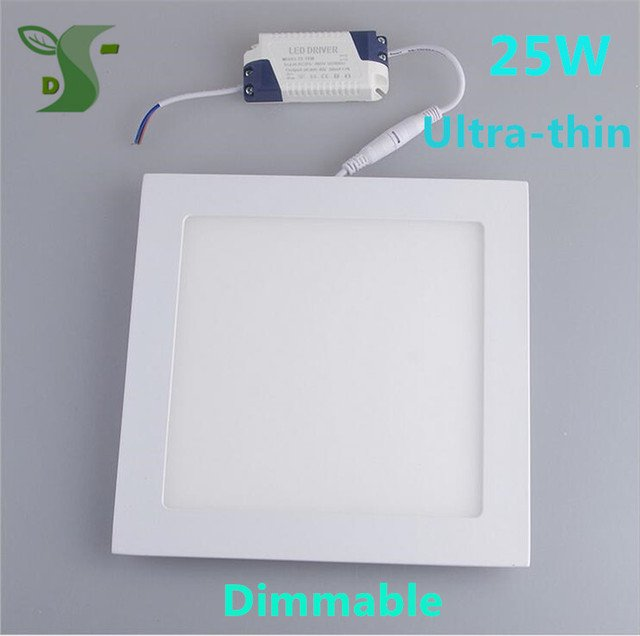 25W Square Mounted panel light led Ceiling lamp downlight kitchen Dimmable AC85-265V with Driver
