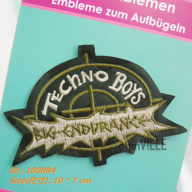 """Fallout Parches Ropa 100884 Techno Boys Iron-on Patches """"easy To Apply, Just Iron-on"""" Guaranteed 100% Quality + Free Shipping"""