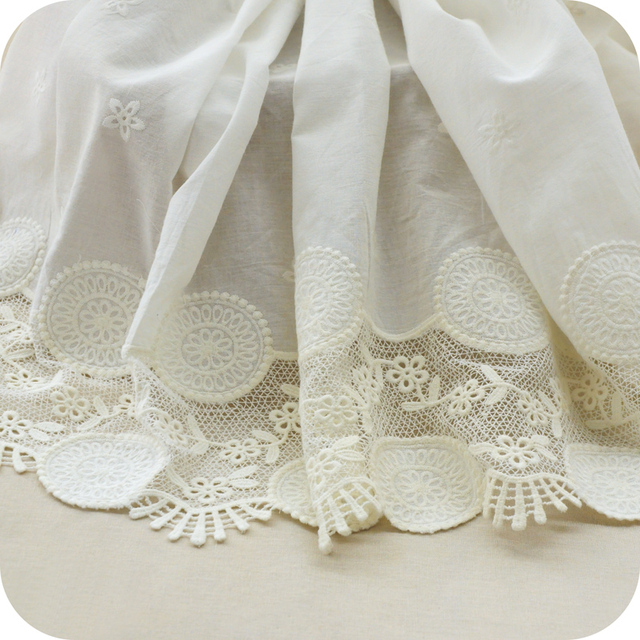 Two meters of cotton cloth and cotton embroidery special offer yellow bud silk cloth material manual DIY