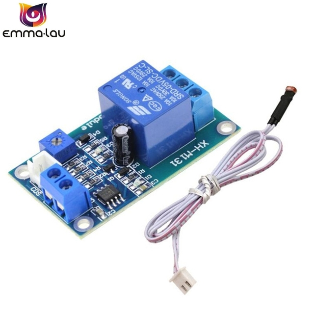 XH-M131 DC5V/12V Light Control Switch Photoresistor Relay Module Detection Sensor 10A brightness Automatic Control Board
