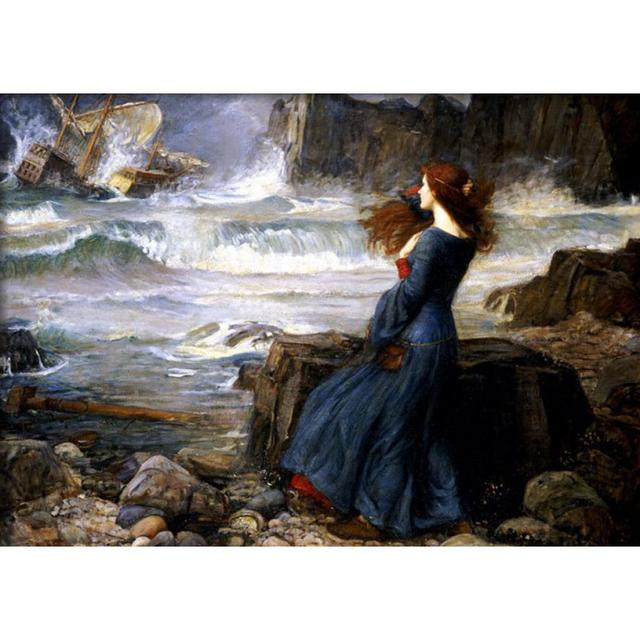 Woman Canvas Painting Miranda the Tempest William Adolphe Bouguereau oil Paintings Art Reproduction High quality hand painted