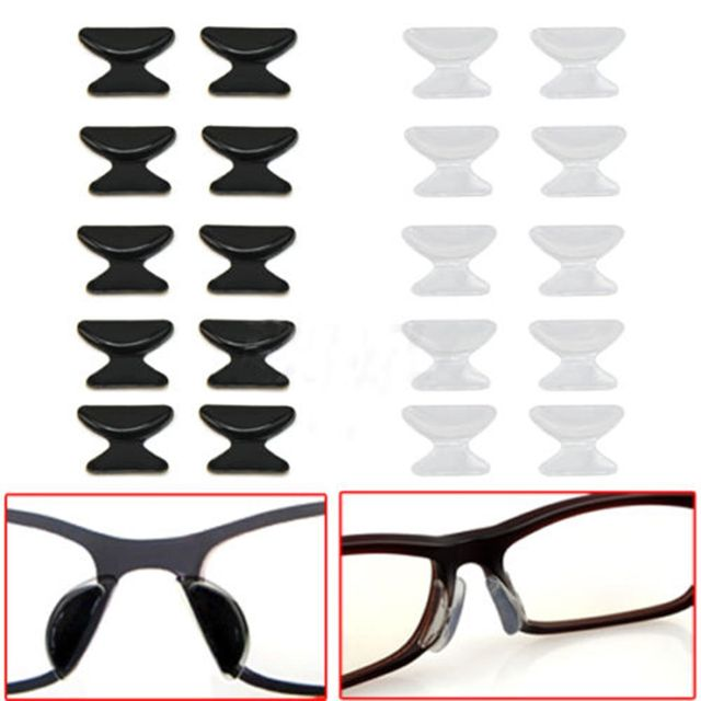 2Pairs Eyeglass Anti Slip Silicone Nose Pads Sunglass Glass Spectacles slip nose pads increased eyewear accessories free ship