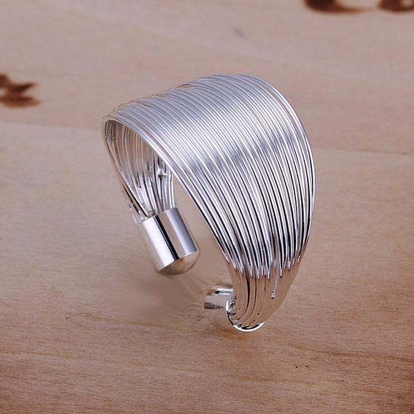 The best gift hot fashion exquisite silver circular opening multi-line ring silver  classic models silver jewelry R018