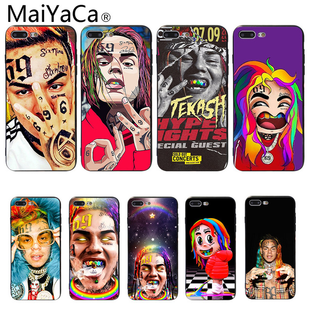 Case for iPhone 7 6ix9ine soft silicone phone Case for iPhone 6 5 5S SE 6S 6Plus 6SPlus 7Plus 8 8Plus X