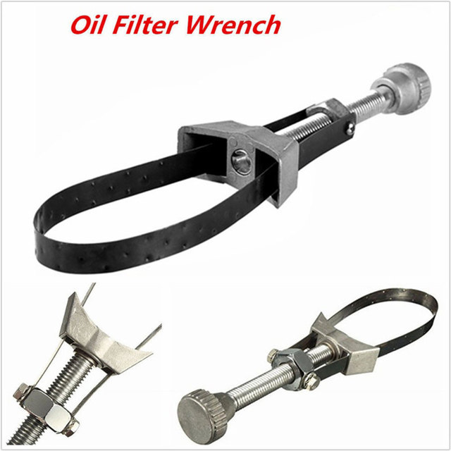 Oil Filter Wrench Car Maintenance Tools Hand Tool Universal Motorcycle Removal Tool Strap Automobile Diameter Adjustable 1pc