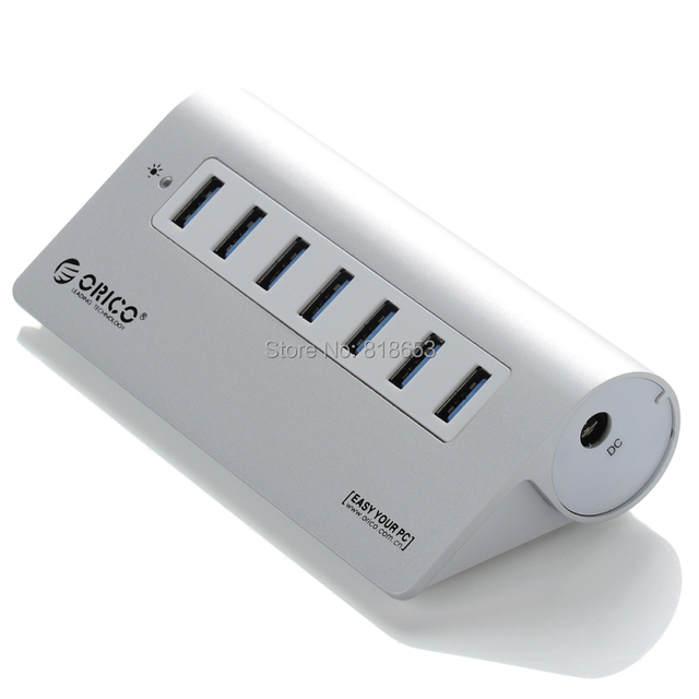 ORICO M3H7-SV High-Speed Aluminum 7 Ports USB 3.0 HUB with Vl812 Chipset for Notebook