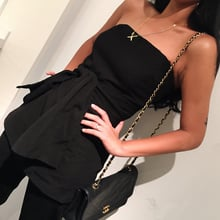 Enteritos Mujer Sale Cotton Polyester Fashion 2018 New Selling Network Piece Pants Cut Chest Tight Body Color High Waist Female