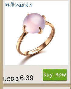 MOONROCY New Free Shipping  Zirconia Wholesale rose gold Color Austrian Crystal Rings Fashion For women Gift