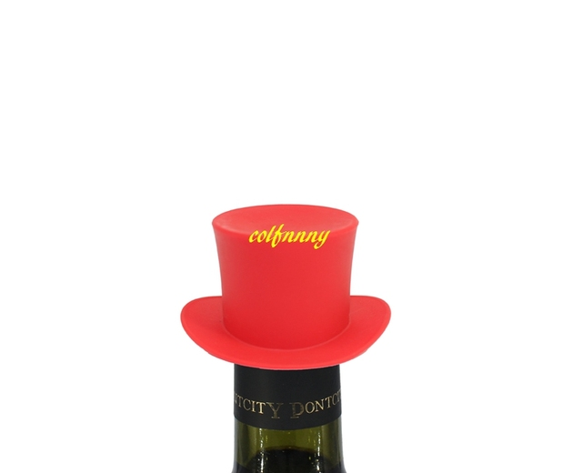 100pcs/lot Small Hat Silicone Wine Stopper Red Wine Champagne Plug Beer Bottle Cowboy cap Bottle stoppers Sealers