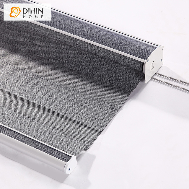 DIHIN HOME Luxury Modern 4 Colors Curtains Thickening Roller Shutter Double Layer Shade Blinds Customize Curtain Free Shipping